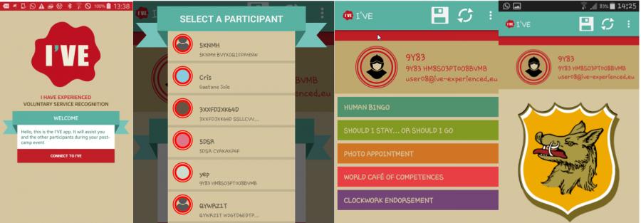 The I'VE app screenshots